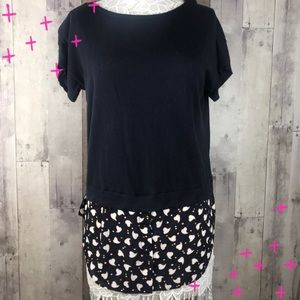 Ann Taylor blue two in one top size medium